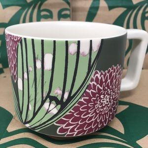 STARBUCKS 2019 Ceramic floral Mug-NWT 12 Fl Oz